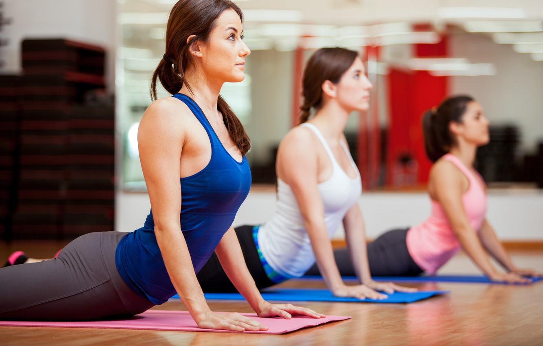 Фото обои pose, elongation, Yoga Exercises
