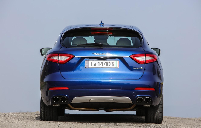 Фото обои синяя, кроссовер, роскошный, Maserati Levante