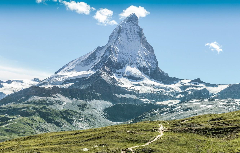 Обои альпы, Пейзаж. Минимализм foto 17