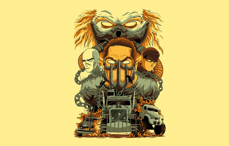 Фото обои постапокалипсис, Mad Max, Безумный Макс, Дорога ярости