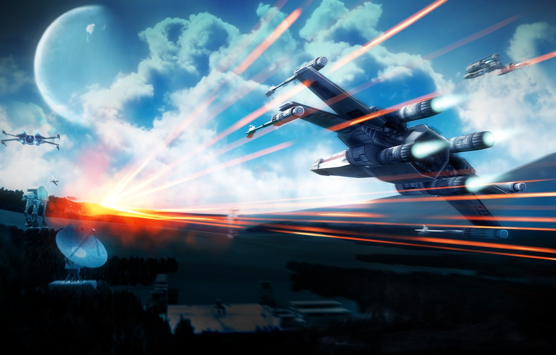 обои Star Wars Sky Planet крестокрыл X Wing картинки на