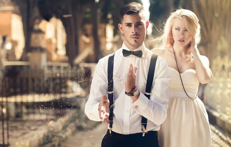 Фото обои девушка, парень, fashion, Diana, Brandon