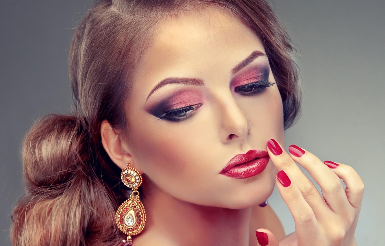 Фото обои глаза, лицо, Девушки, губы, beauty, lips, face