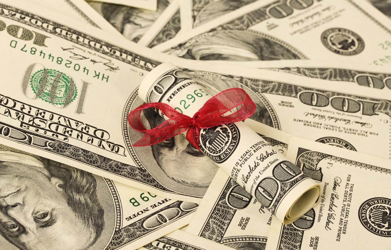 Фото обои money, dollars, tape