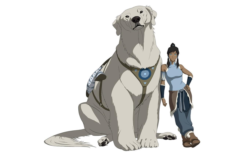 Фото обои фон, одежда, медведь, Avatar, Naga, Korra, The Legend Of Korra