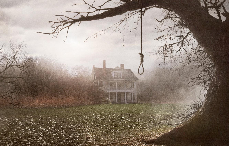Фото обои туман, дом, дерево, сумрак, The Conjuring, Заклятие