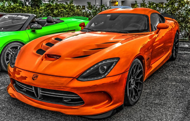 Фото обои Dodge Viper, Dodge Viper SRT-10, sports car