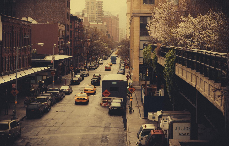 Обои new york city, машины, америка, улица, сша. Города foto 6