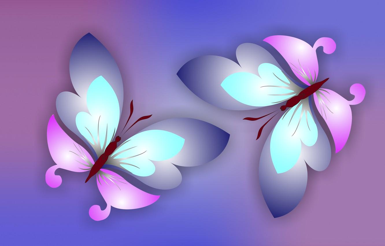 Фото обои бабочки, нежный, цвет, вектор, весна, Настроение