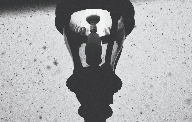 Фото обои winter, lamp, snowing