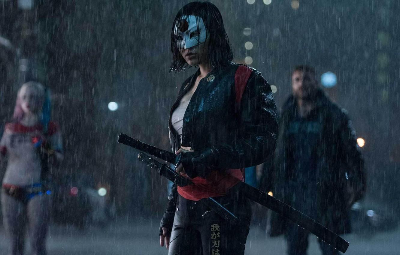 Фото обои cinema, wallpaper, girl, sword, rain, fox, woman, movie, ken, blade, brunette, samurai, ninja, hero, asian, …