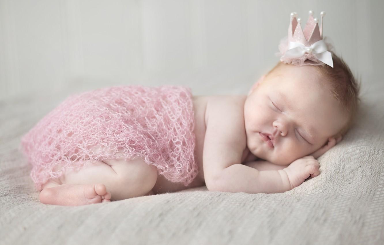 Обои младенец, венок, Девочка. Разное foto 13
