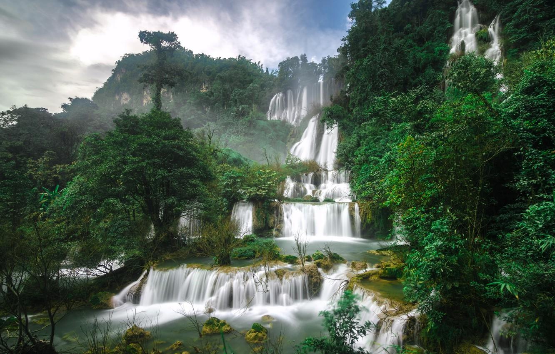 Обои каскады, тайланд, красиво. Природа foto 14