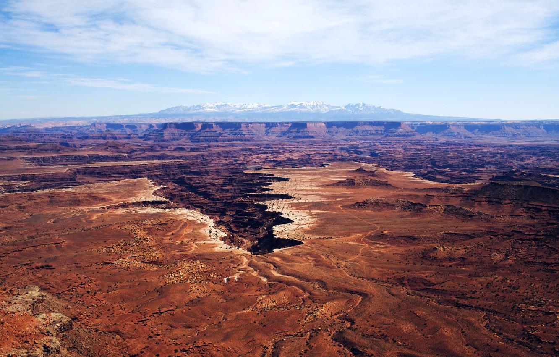 Фото обои небо, облака, горы, каньон, USA, США, национальный парк