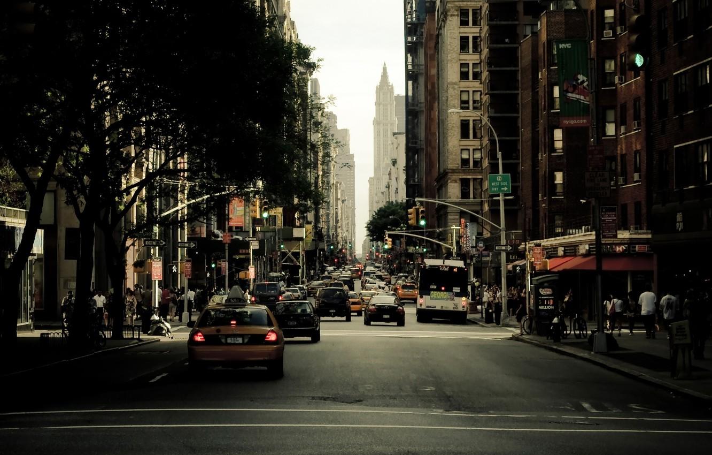 Обои new york city, машины, америка, улица, сша. Города foto 9