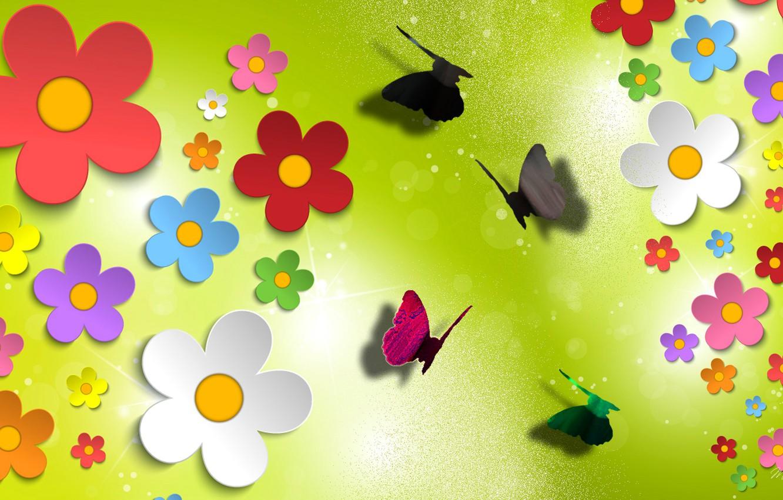 Обои блеск, аппликация, цветы, свет, блик. Разное foto 6