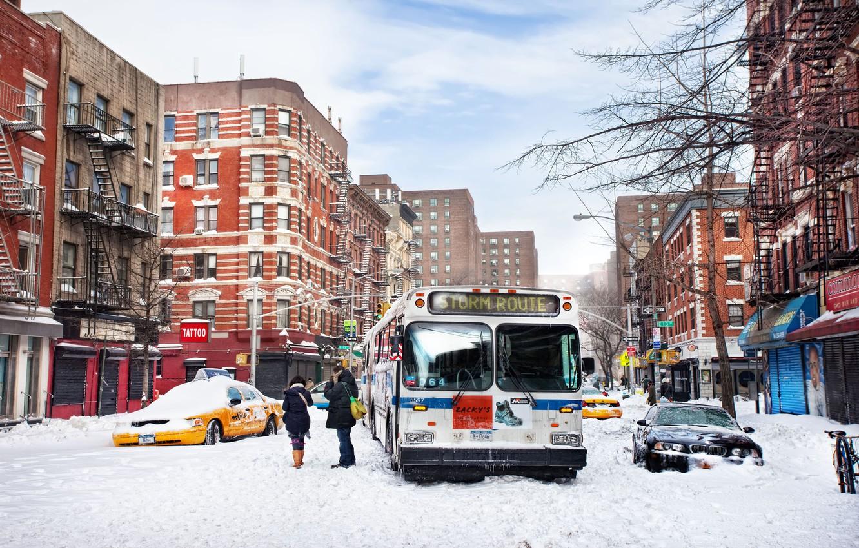 Обои snow, олбани, ny, new york, ночь, winter, Albany. Города foto 7