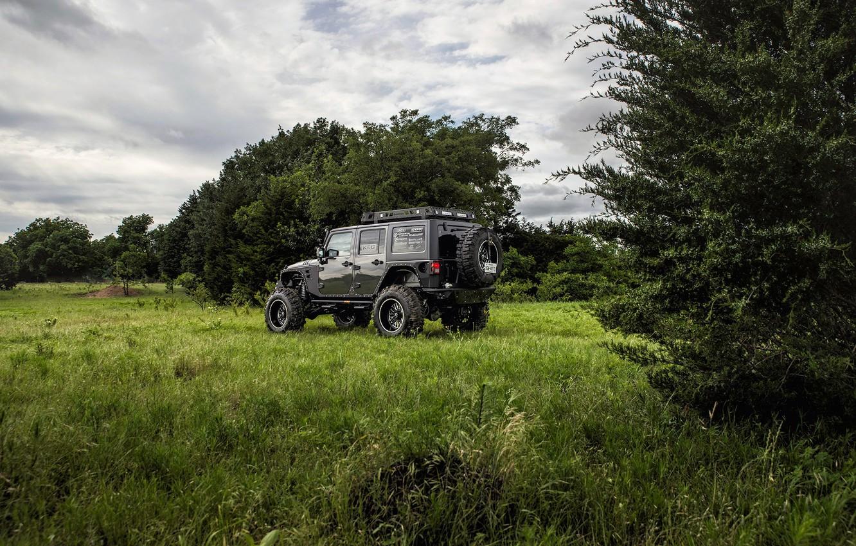 Фото обои джип, jeep, wrangler, вранглер, unlimited