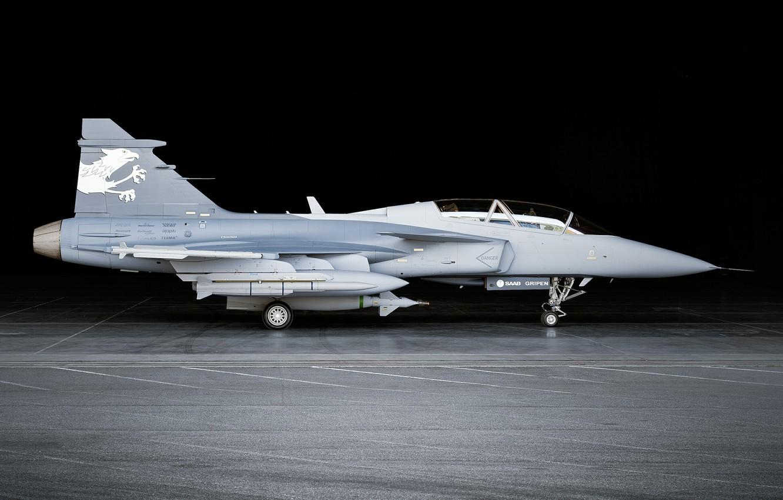 Обои истребитель, gripen, многоцелевой, Saab jas 39. Авиация foto 13