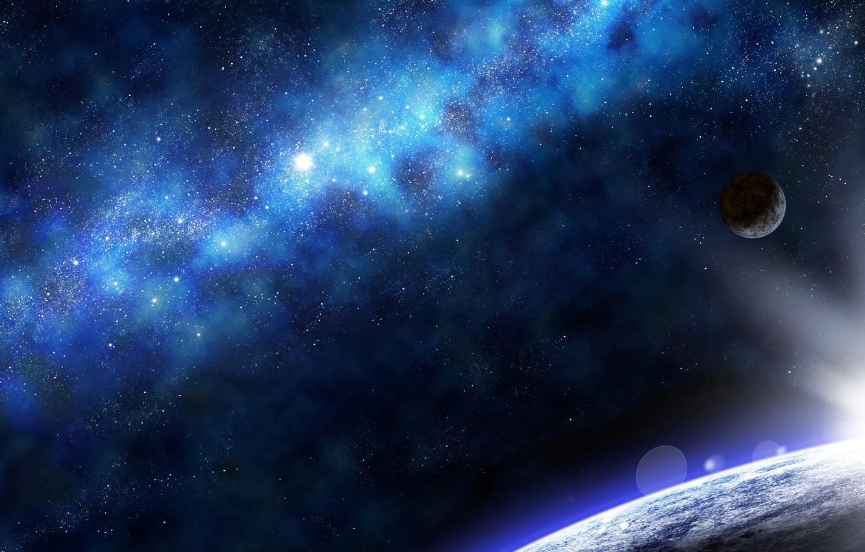Фото обои lights, Star, blue, planet, cute, Sci Fi