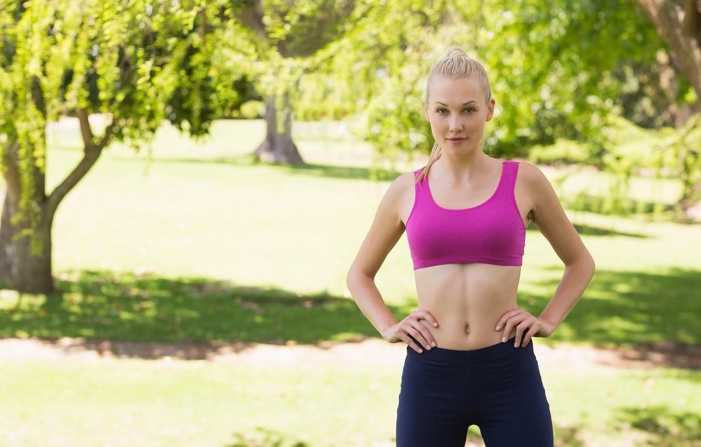 Фото обои грудь, девушка, спорт, блондинка, sport, girl, blond