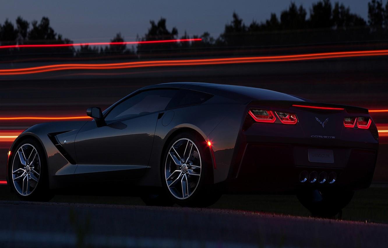 Фото обои Corvette, Chevrolet, Шевроле, Корвет, Стингрей, Stingray C7