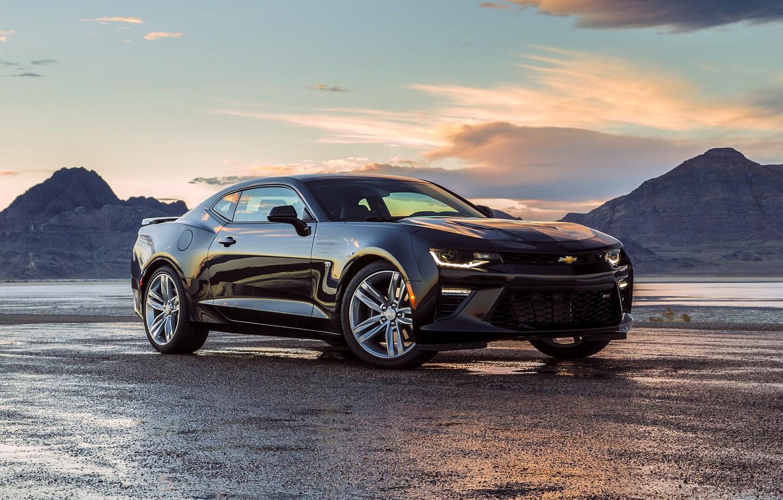 Фото обои черный, Chevrolet, Camaro, шевроле, Black, камаро