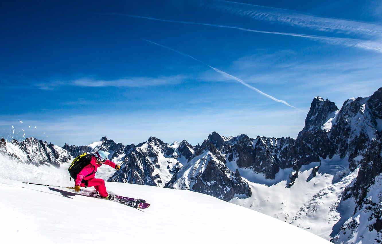 Обои Ski, speed rider, спидглайдинг, canopy, Лыжи, экстремальный спорт. Спорт foto 7