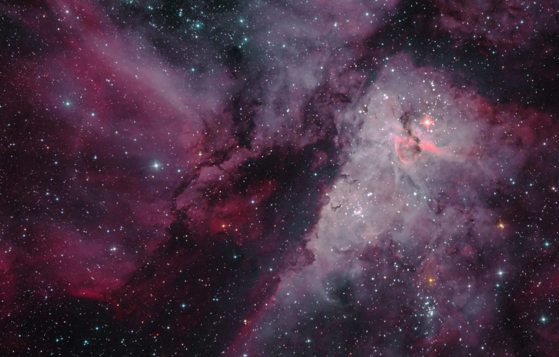 Фото обои космос, звёзды, созвездие, Туманность Киля, мироздание