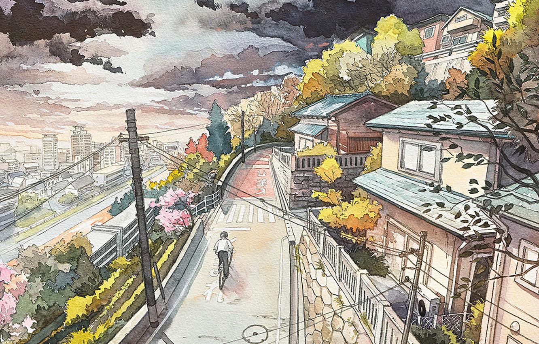 токио картинки города в карандаше научиться настраивать