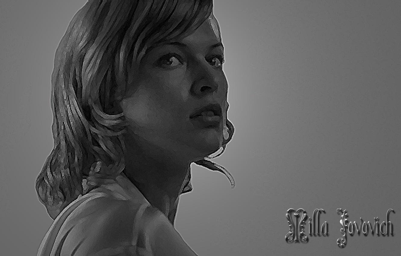 Фото обои Обитель зла, Milla Jovovich, элемент, residen evil