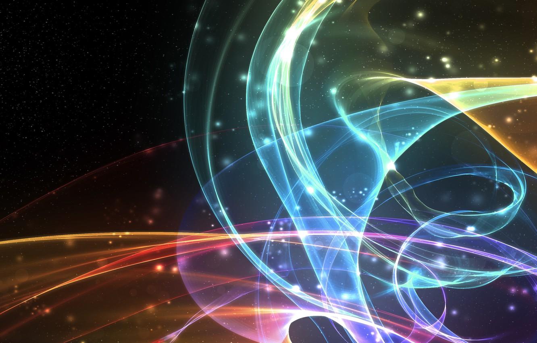 Фото обои линии, свечение, пятна, пересечения