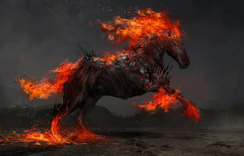 Фото обои конь, война, арт, Thedurrrrian
