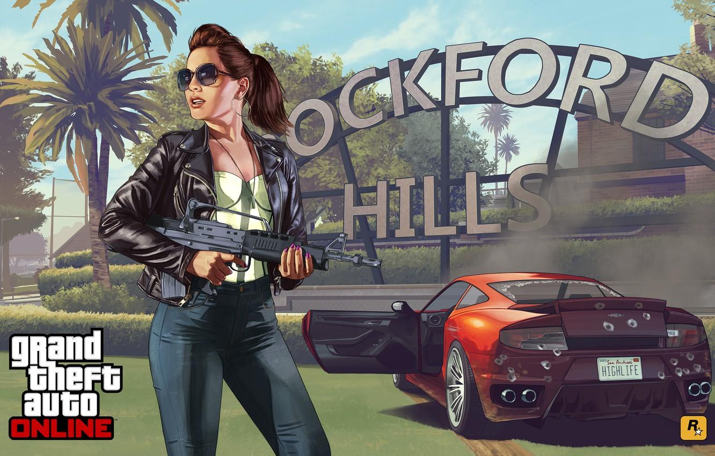обои девушка Concept Art Grand Theft Auto V Gta Online