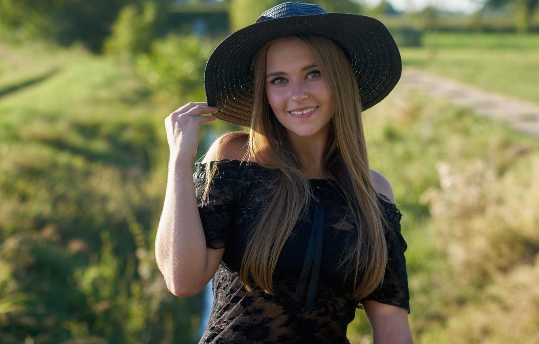 Обои шляпа, девушка, улыбка. Разное foto 11