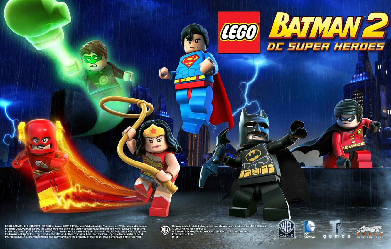 Фото обои batman, lego, flash, robin