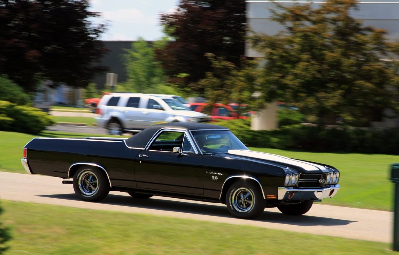 Фото обои Chevrolet, Chevy, Super Sport, El Camino, автомобиль. классика