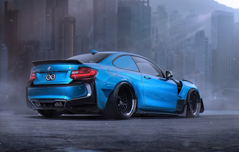 Фото обои BMW, Car, Blue, Body, Tuning, Future, Sport, Kit, by Khyzyl Saleem