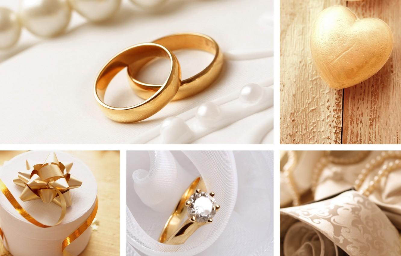Фото обои коллаж, кольца, украшение, свадьба, декор
