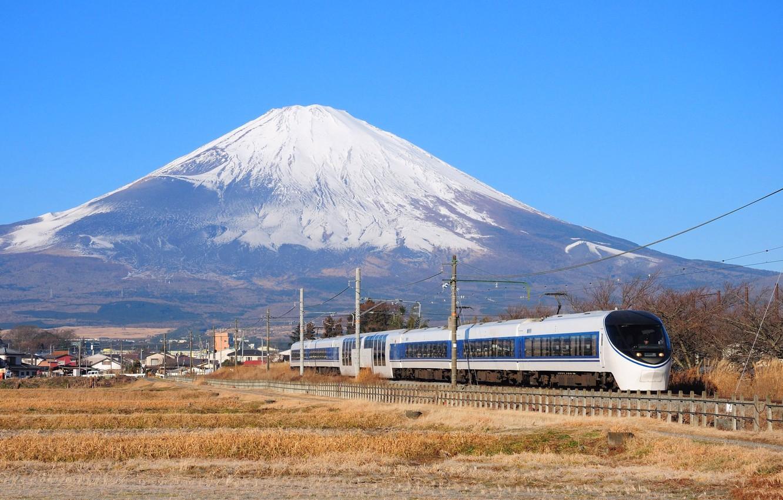 Обои поезд, небо, Пейзаж. Разное foto 18