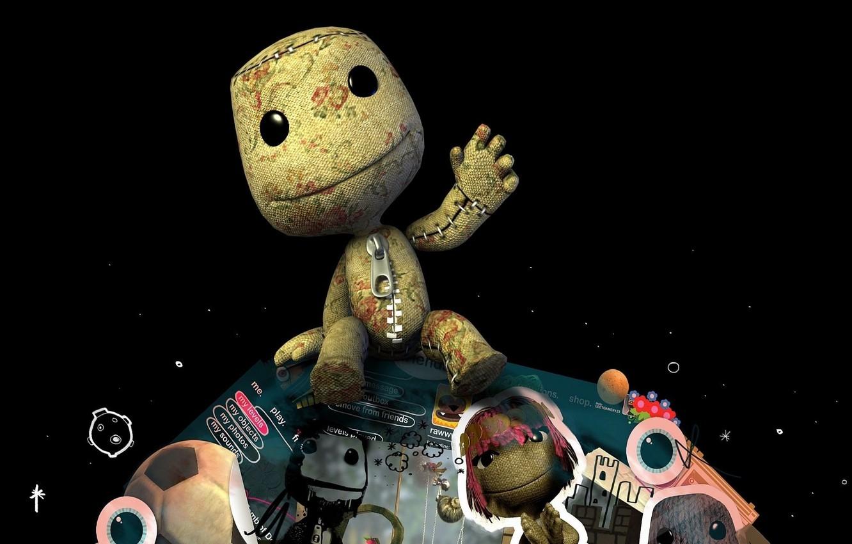 Фото обои игра, планета, большая, game, Little Big Planet, маленькая, компьютерные игры, sackboy, видео игры, pc game