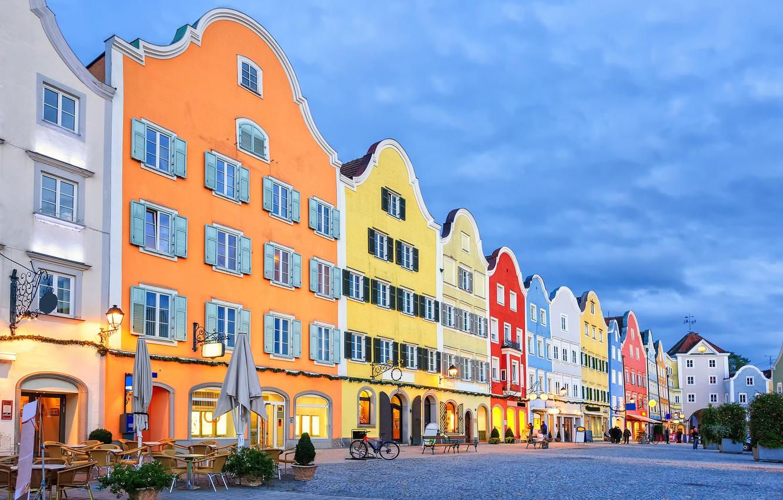 Фото обои дома, Австрия, Scharding