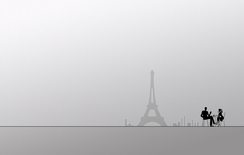 Фото обои белый, девушка, креатив, фон, люди, города, девушки, человек, париж, минимализм, парень, парни