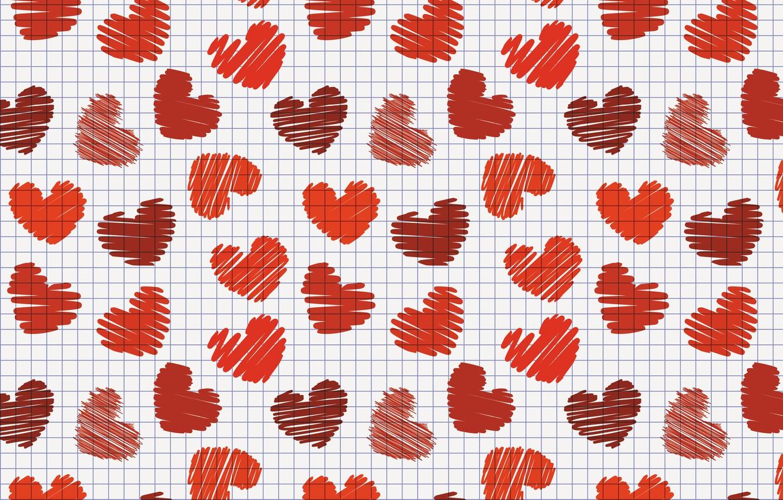 Фото обои сердце, сердечки, клетки, день влюбленных, valentines day