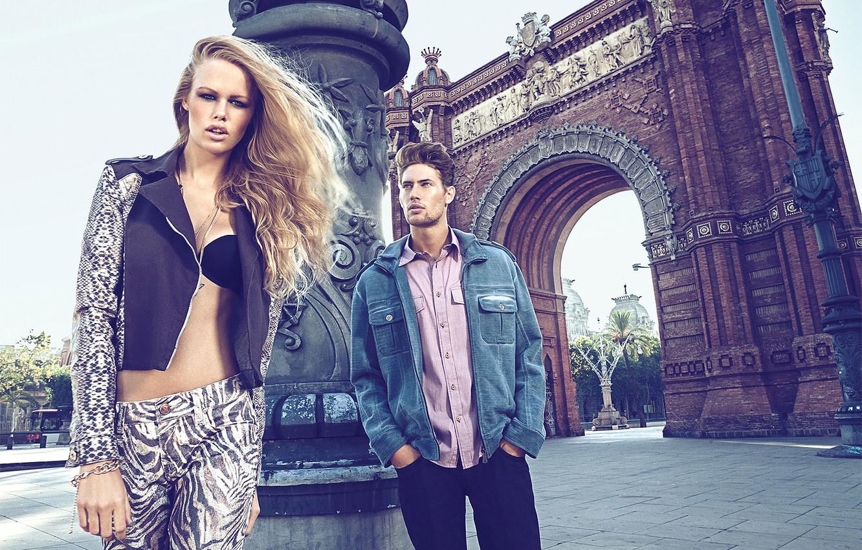 Фото обои стиль, джинсы, реклама, модели, мода, The Denim News