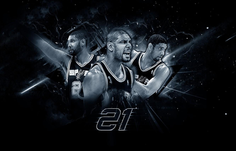 Фото обои Мяч, Спорт, Баскетбол, NBA, San Antonio, Сан Антонио, Spurs, Игрок, Тим Данкан, Спёрс, Tim Duncan