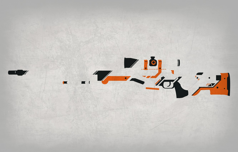 Фото обои Фон, Оружие, Gun, Valve, Counter Strike, Steam, Skin, Weapon, CS:GO, Global Offensive, Workshop, Asiimov, Awp