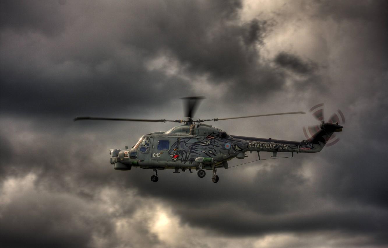Фото обои небо, полет, вертолёт, Wildcat, военно-транспортный, Agusta Westland, Super Lynx