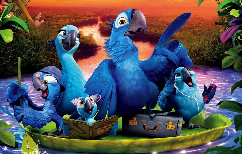 Фото обои семья, Blue Sky, Мультфильм, Комедия, Rio 2, Приключения