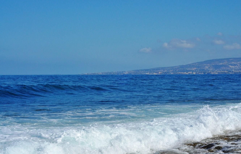 Фото обои камни, морская пена, Средиземное море, волка